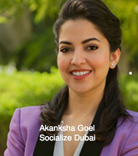 Akanksha Goel Founder, Socialize/We Are Social, Dubai'